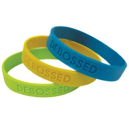 Debossed Color Wristband